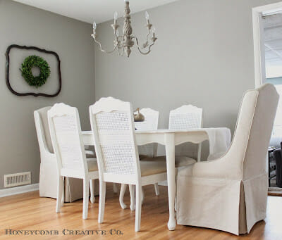 Our Dining Room and Painted Table