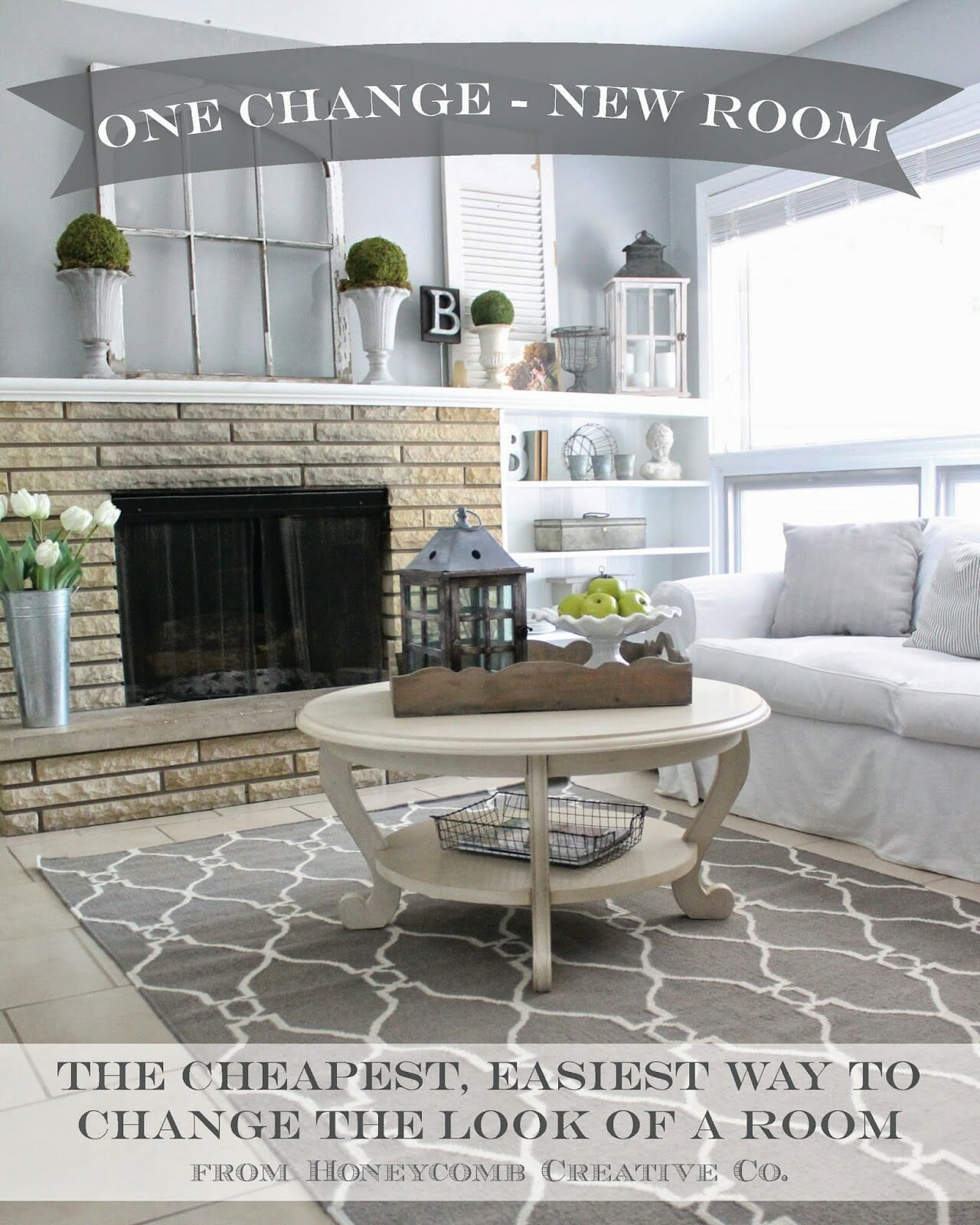 One Change – New Room: The Cheapest, Easiest Way to Change the Look of a Room