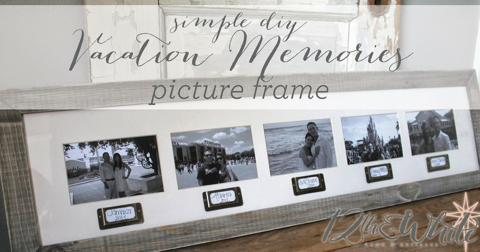 Vacation Memories Picture Frame {Simple Craft}
