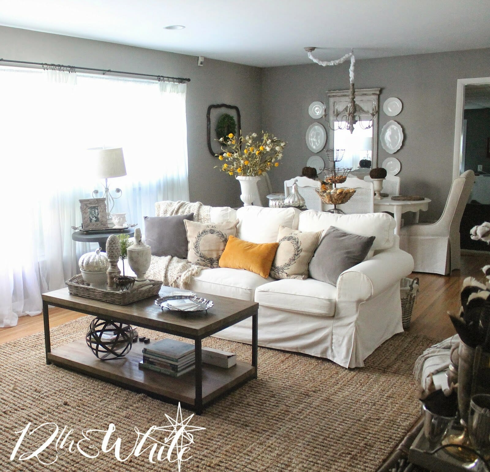 Fall Living and Dining Room