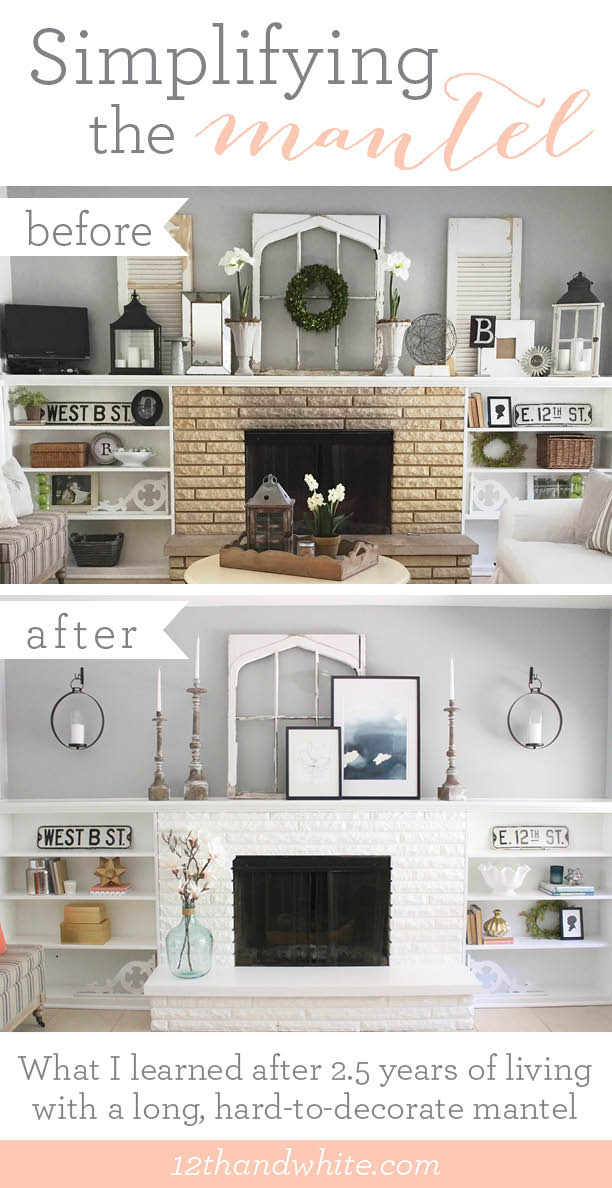How to Decorate a Long Mantel: A Before and After