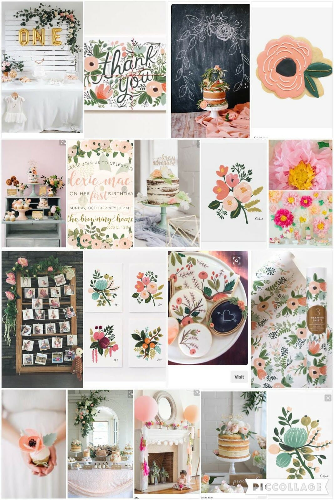 Rifle Paper Co. Inspired Botanical First Birthday Inspiration