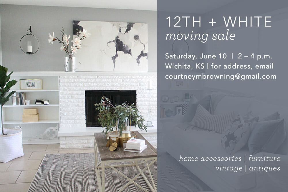 12th + White Moving Sale! (And Time Change)