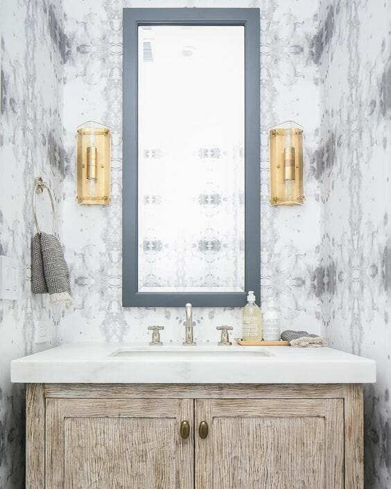 One Room Challenge 2017 | Week Two | Modern-Traditional Powder Room