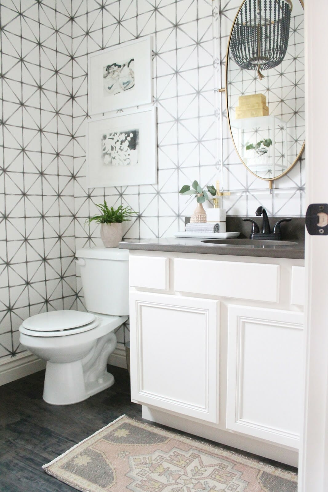 One Room Challenge   The Reveal   Modern-Traditional Powder Room