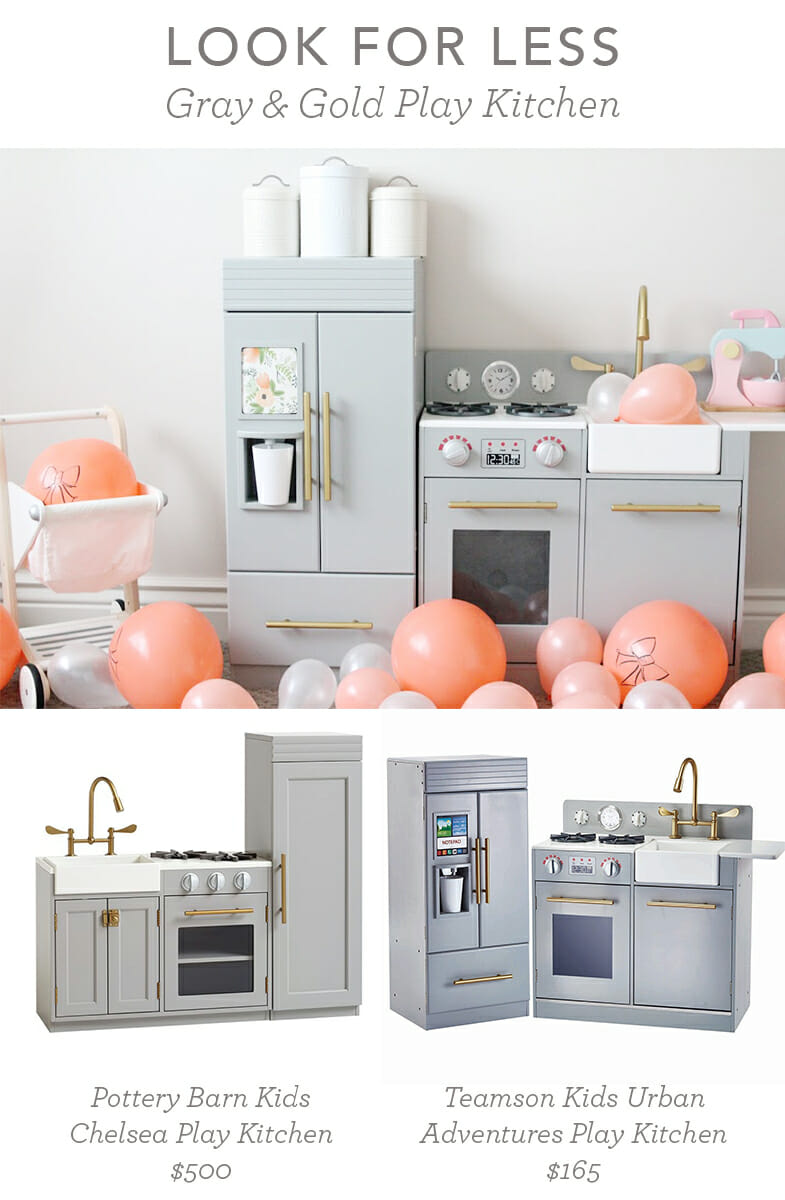 Look for Less: Gray and Gold Play Kitchen