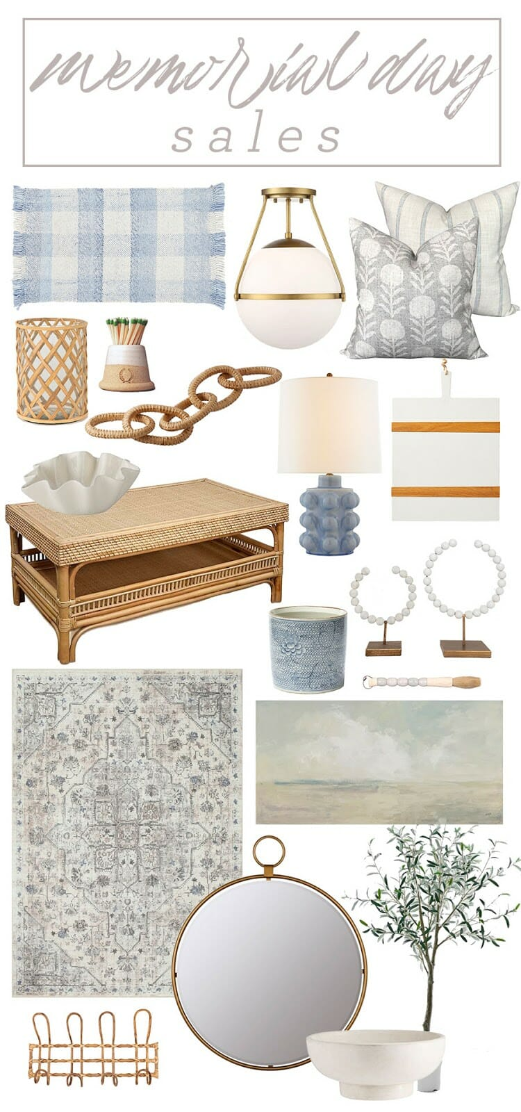 Memorial Day Home Decor and Furniture Sales
